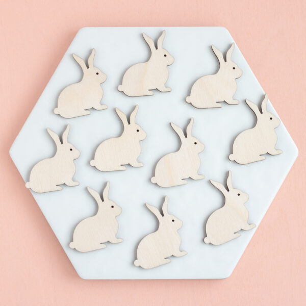 Mini Wooden Bunnies