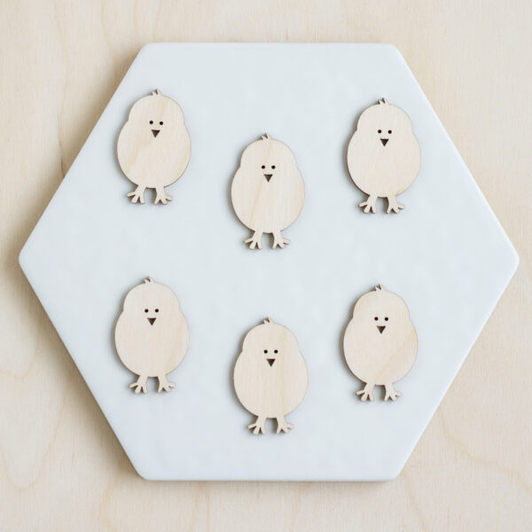 Mini Wooden Chicks