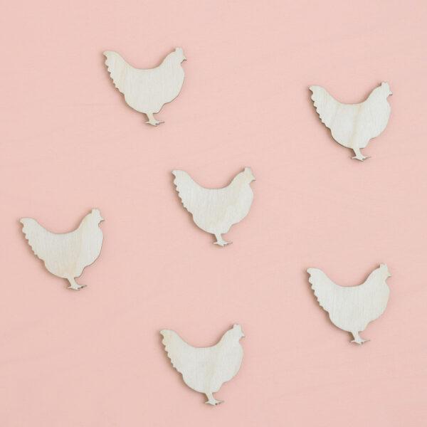 Mini Wooden Hens