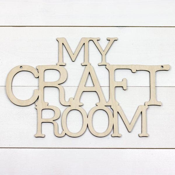 wooden hanging my craft room sign