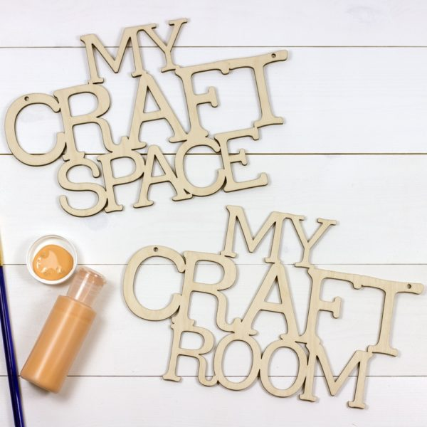 wooden hanging my craft room / space sign
