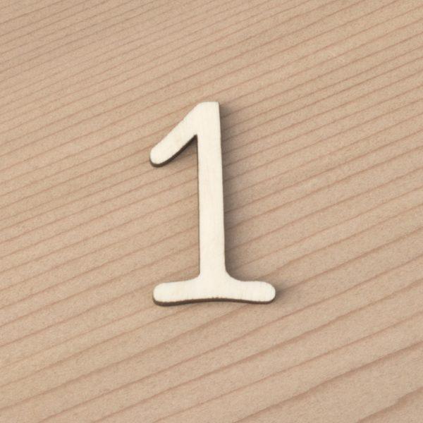 wooden number craft blanks 1