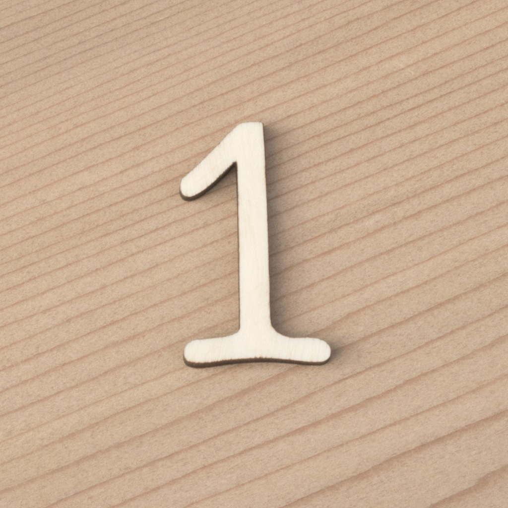 wooden number craft blanks 1