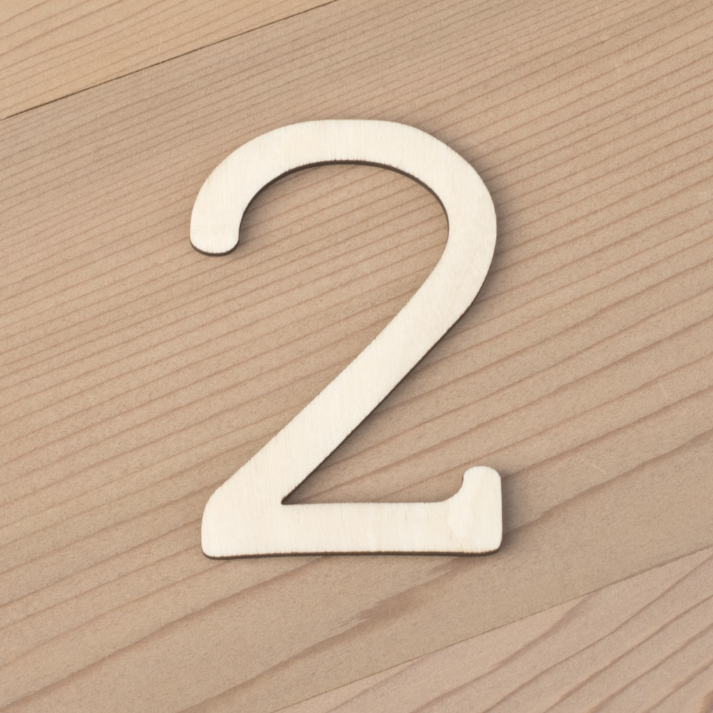 Wooden Numbers 6cm