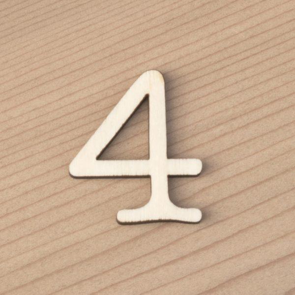 wooden number craft blanks 4