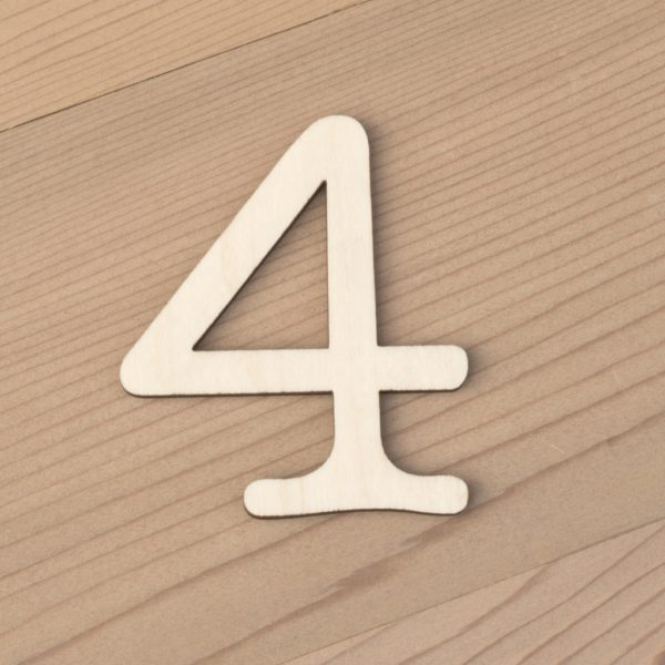 wooden number craft blanks 4