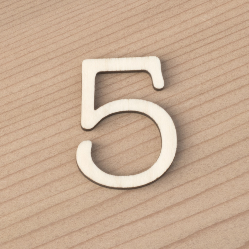 wooden number craft blanks 5