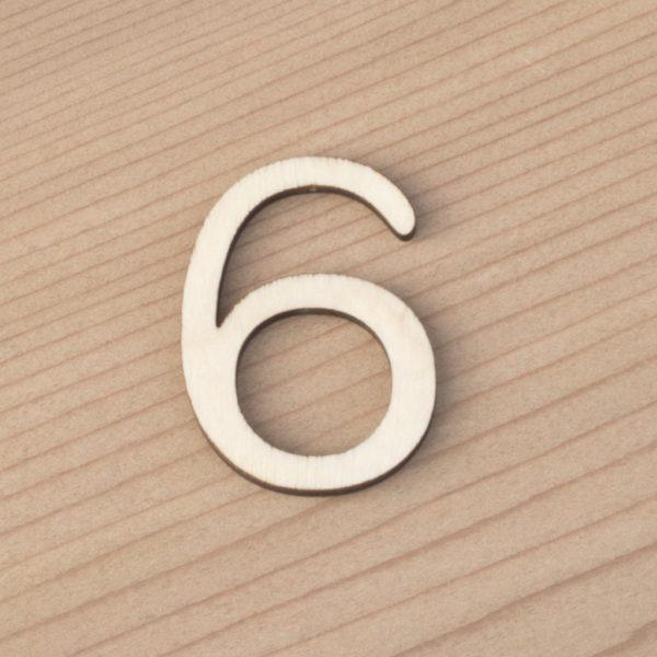 wooden number craft blanks 6
