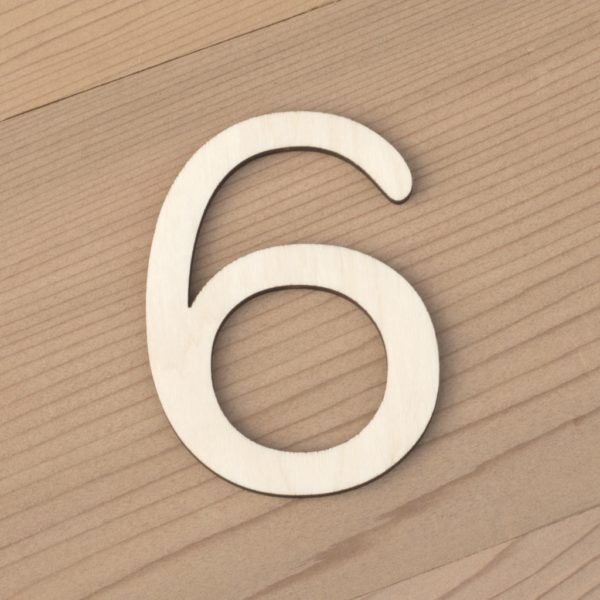 wooden number craft blanks 6