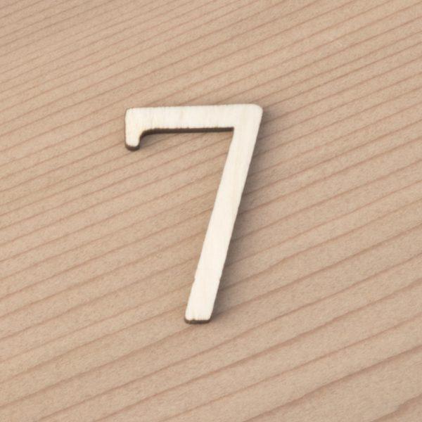 wooden number craft blanks 7