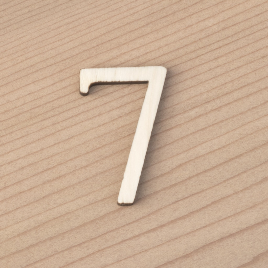 wooden number craft blanks 7