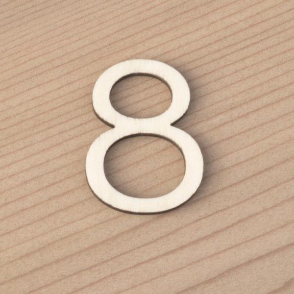 wooden number craft blanks 8