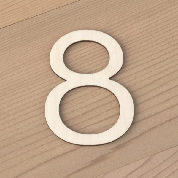 wooden number craft blanks 8