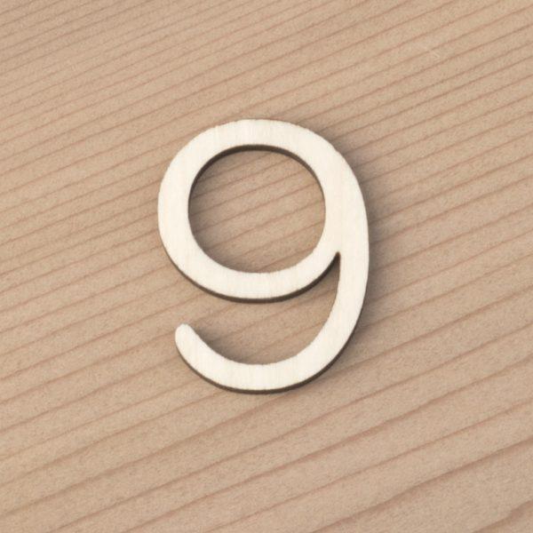 wooden number craft blanks 9