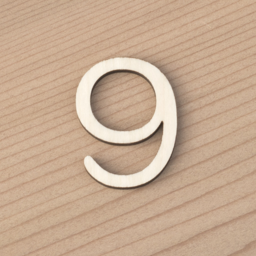 wooden number craft blanks 9