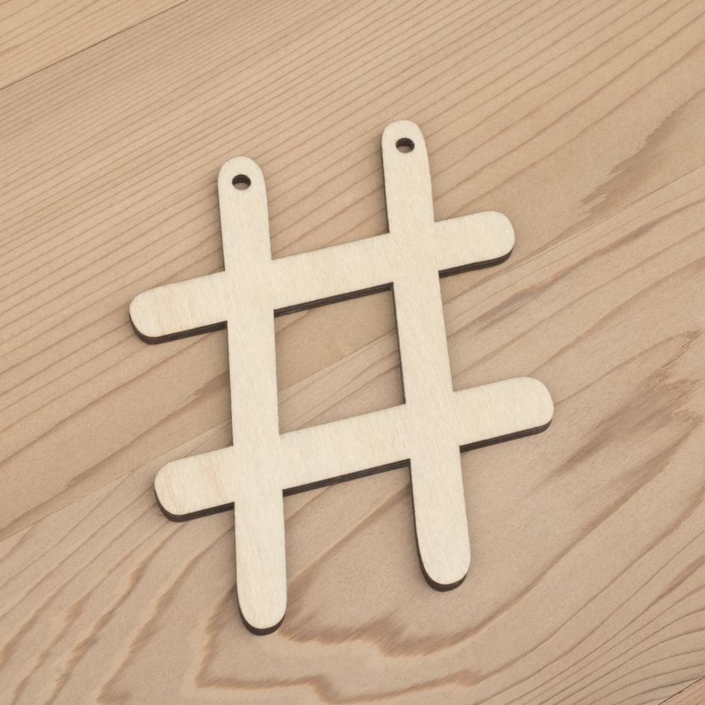 10cm alphabet bunting letter hashtag #
