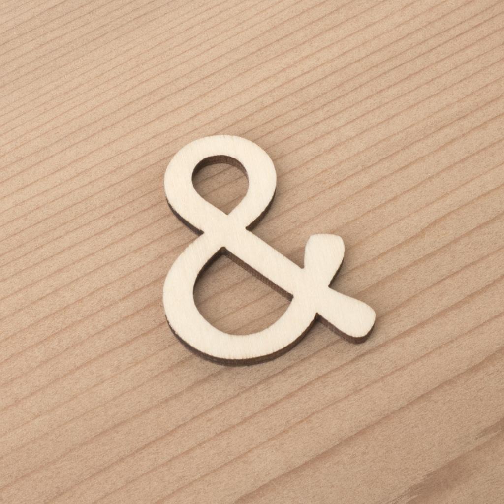 wooden 3cm alphabet &
