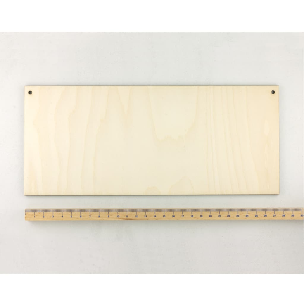 wooden rectangle plaque large