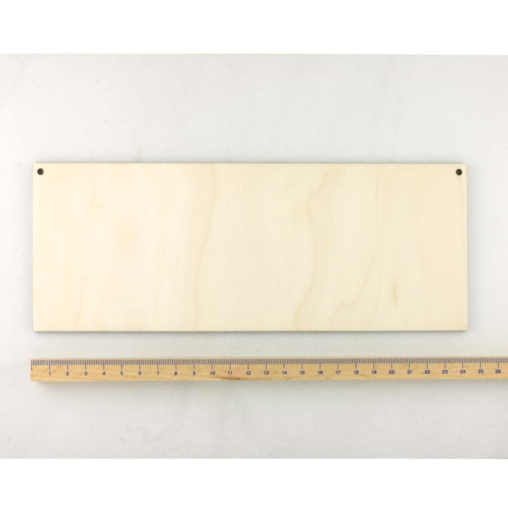 wooden rectangle plaque medium