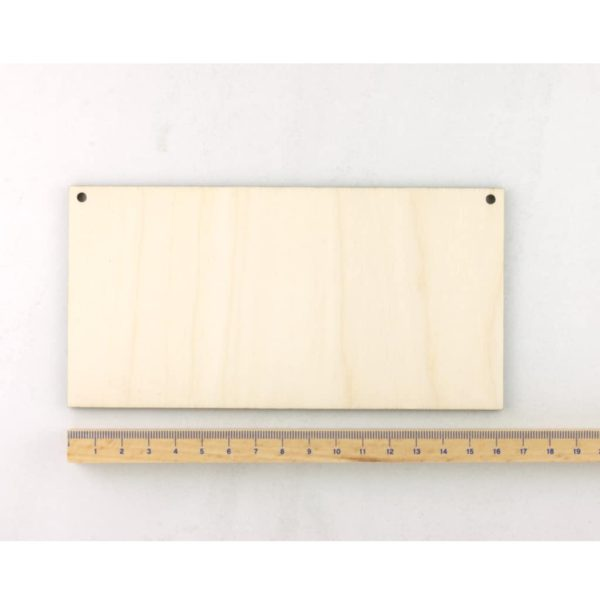 wooden rectangle plaque small