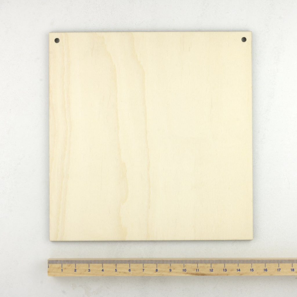 wooden square plaque medium