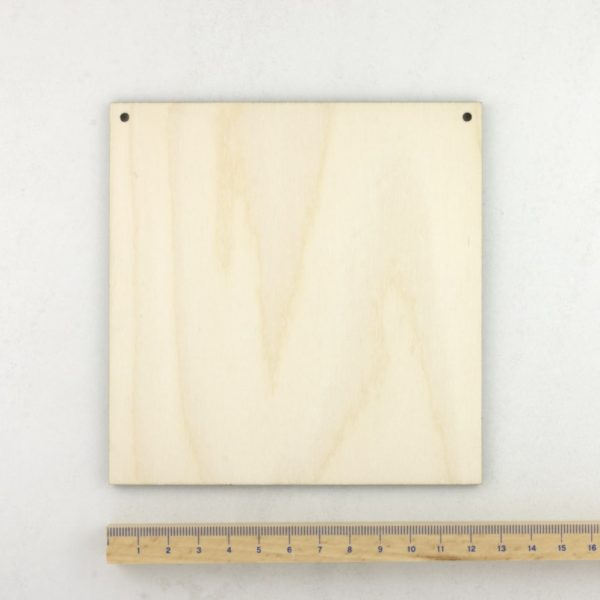 wooden square plaque small