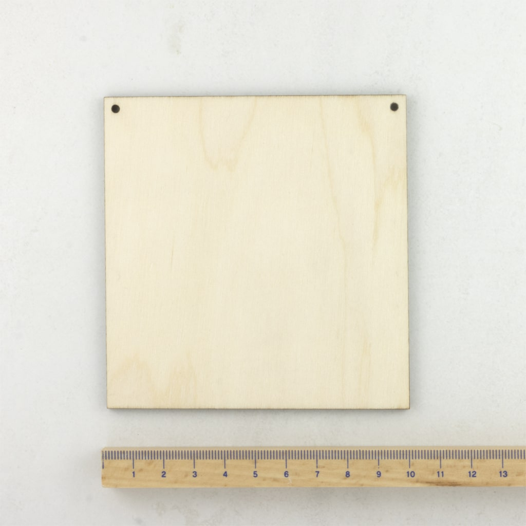 wooden square plaque extra small