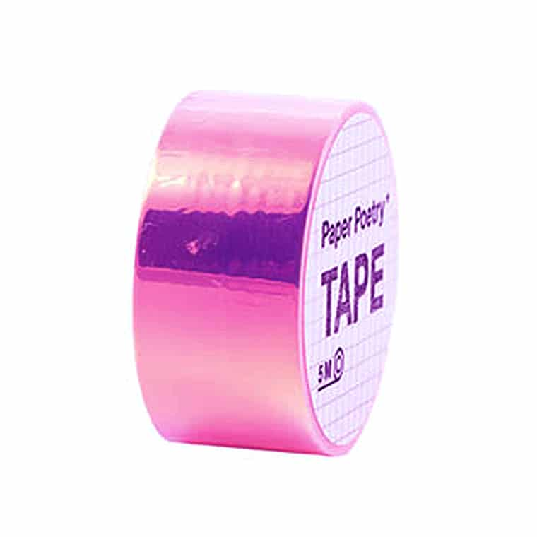 rainbow mirror tape pink