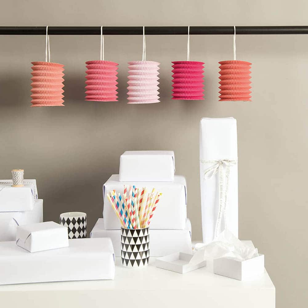 hanging paper lanterns candy