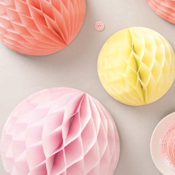 honeycomb paper balls