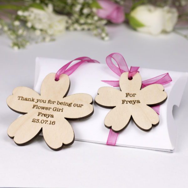flower girl blossom personalised