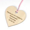 personalised bridesmaid heart
