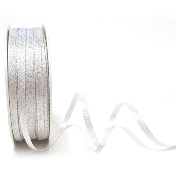 Bright Silver Satin Sparkle 3mm