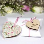 personalised bridesmaid heart