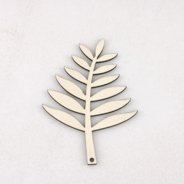 hanging wooden fern leaves
