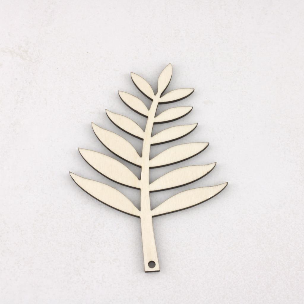 hanging wooden fern leaves