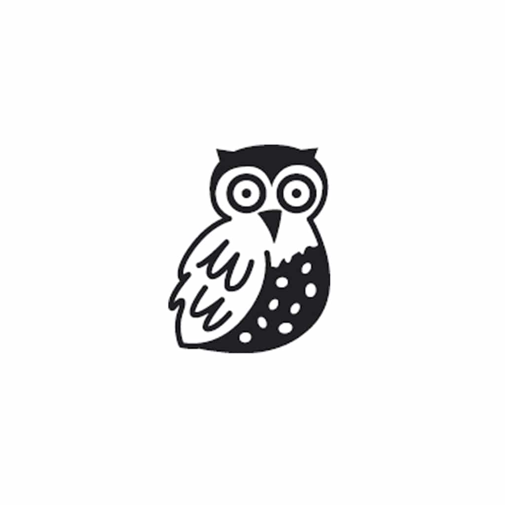 rico mini owl stamp