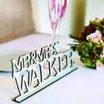 personalised mr & mrs sign duck egg blue