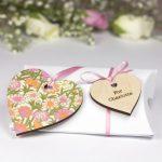 bridesmaid flower girl heart