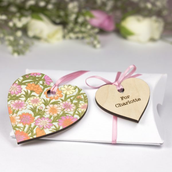 bridesmaid flower girl heart