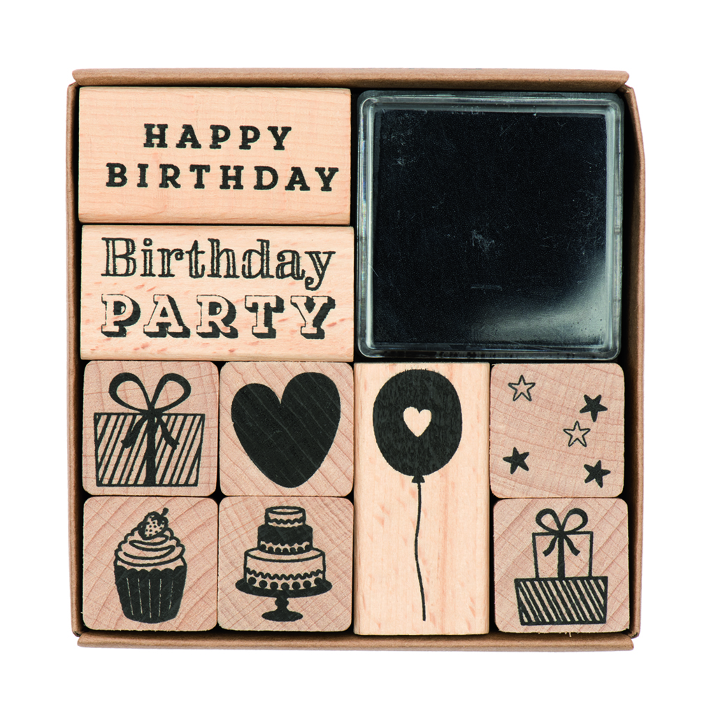 Rico birthday stamp set