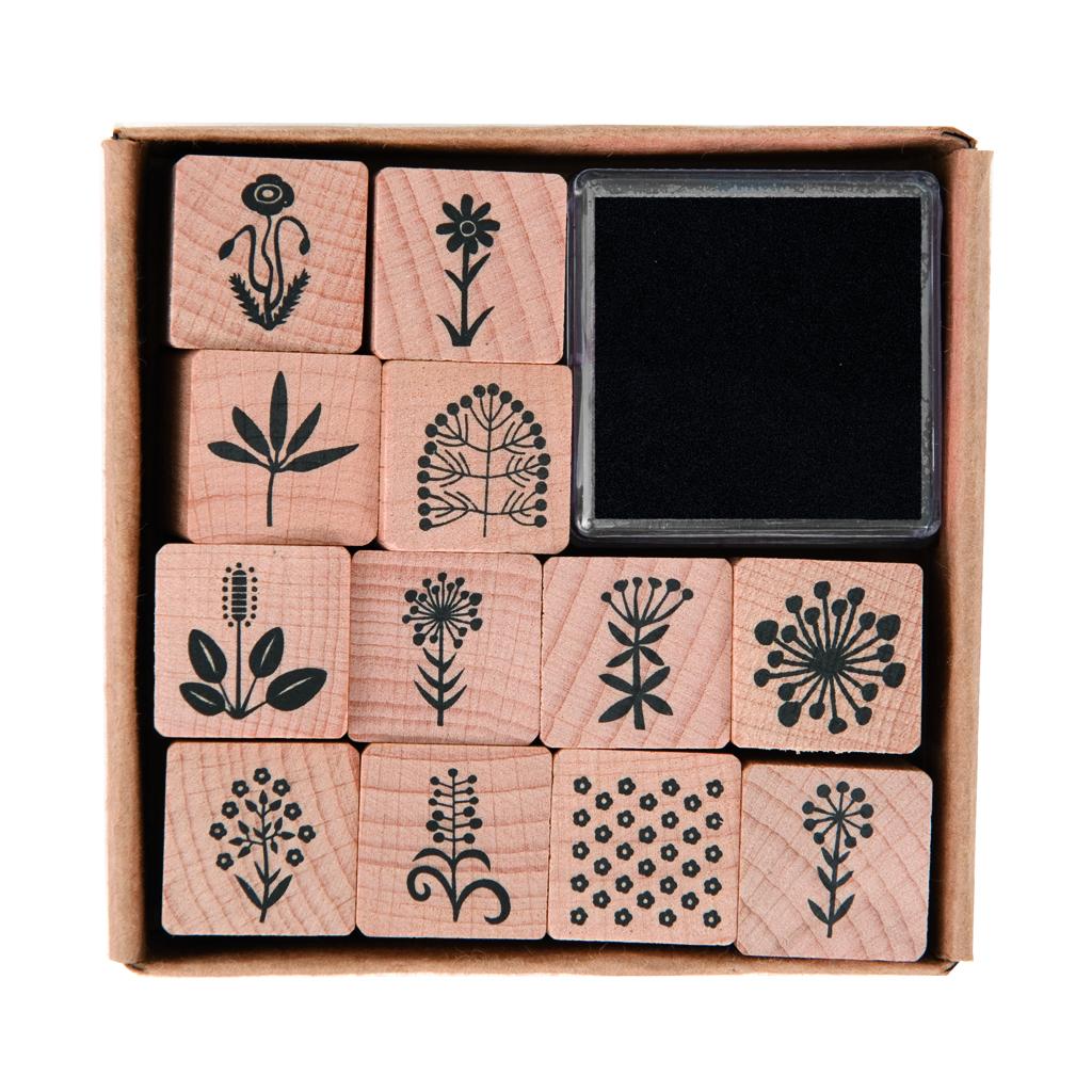 rico floral stamp set