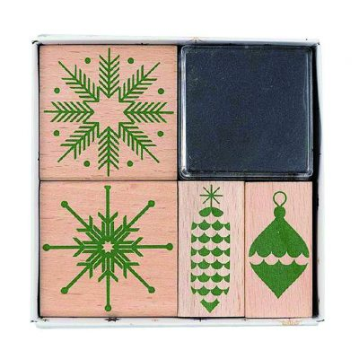 rico puristic Christmas stamp set