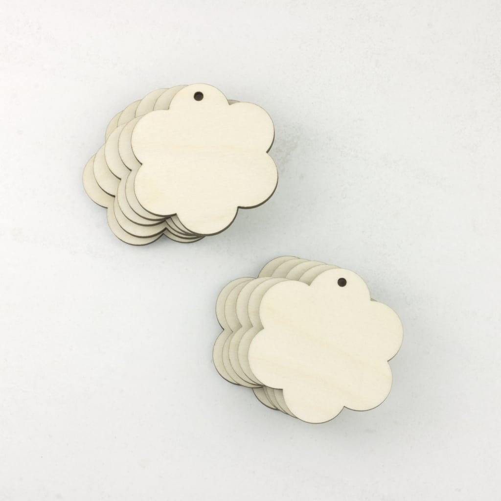 wooden flower tags