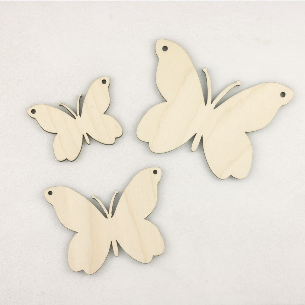 Wooden Butterfly Bunting Artcuts