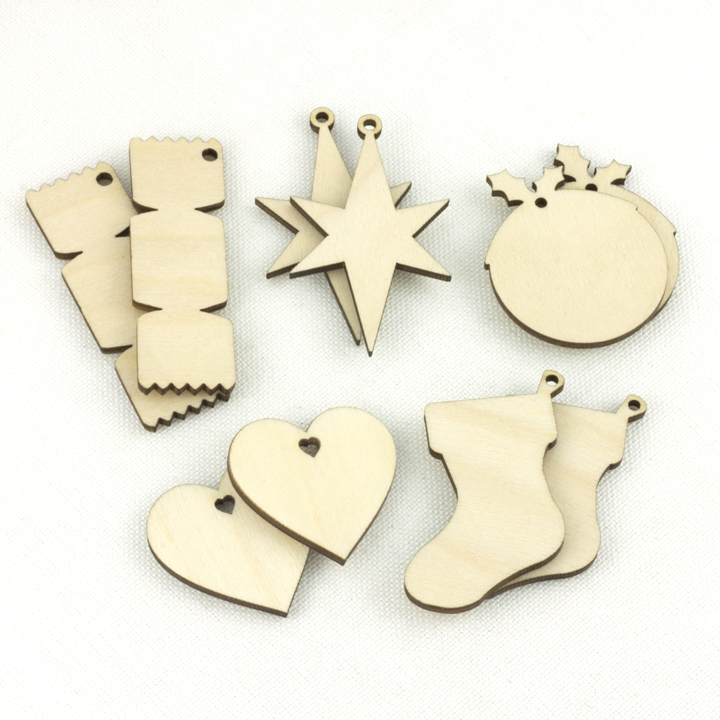mini wooden christmas embelishments
