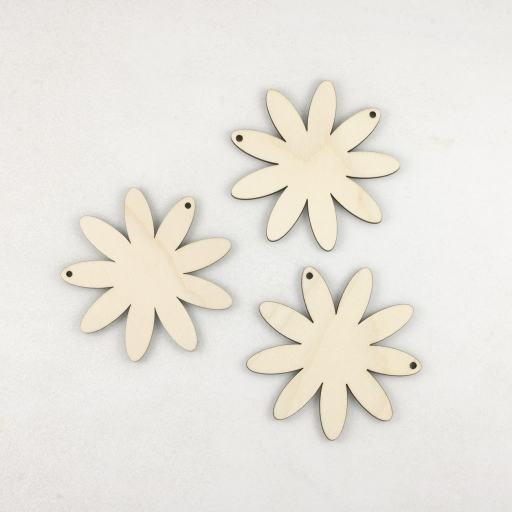 Wooden Daisy Flower Bunting