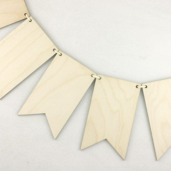 Wooden Flag Hanging Bunting