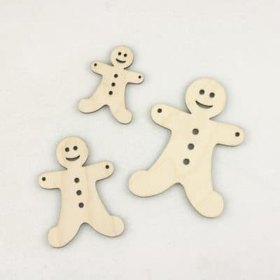 Wooden Gingerbread Hanging Bunting