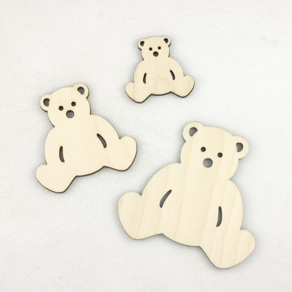 Wooden Teddy Bear Hanging Bunting